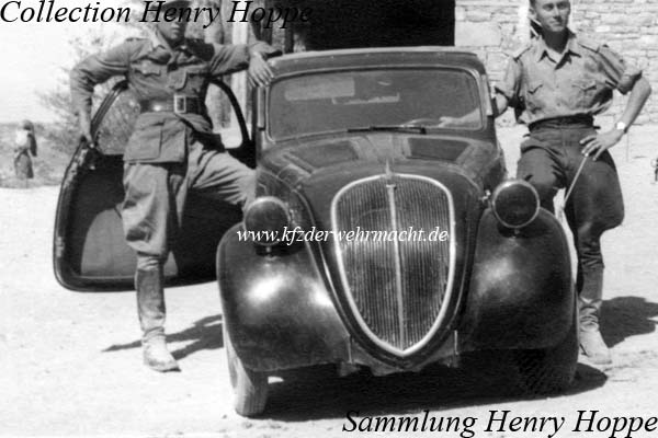 Fiat 500 A Topolino, bei WH, Hoppe